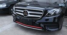 Lapetus Front Face Bottom Bumper Decoration Plate Cover Trim For Mercedes Benz E Class W213 ( sport model ) 2016 2017 2018 2019