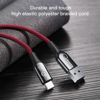 Baseus Type C Cable Smart Power off USB C Cable for Xiaomi 10 9t Quick Charge 3.0 Cable for Redmi Note 9s USB Type C Cable Cord