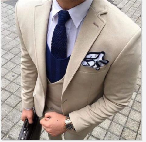 Latest Coat Pant Designs Ivory Men Suit Formal Slim Fit