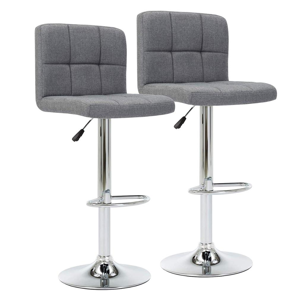 IntimaTe WM Heart Cuban Style Stools Fabric Bar Modern Kitchen Breakfast Stool Chairs With Back ,Set Of 2 A35