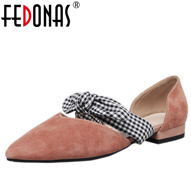 FEDONAS 1Fashion Women Mary Janes Pumps Suede Leather Square Heels Shoes Woman Pointed Toe Butterfly Knot Party Wedding Pumps esveva 2018 women pumps elegant butterfly knot pointed toe square high heels pumps suede slip on pumps women shoes size 34 39
