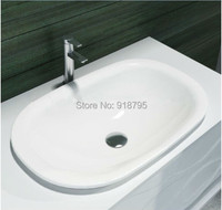 Oval bathroom solid surface stone counter top Vessel sink fashionable Corian washbasin RS38173 510