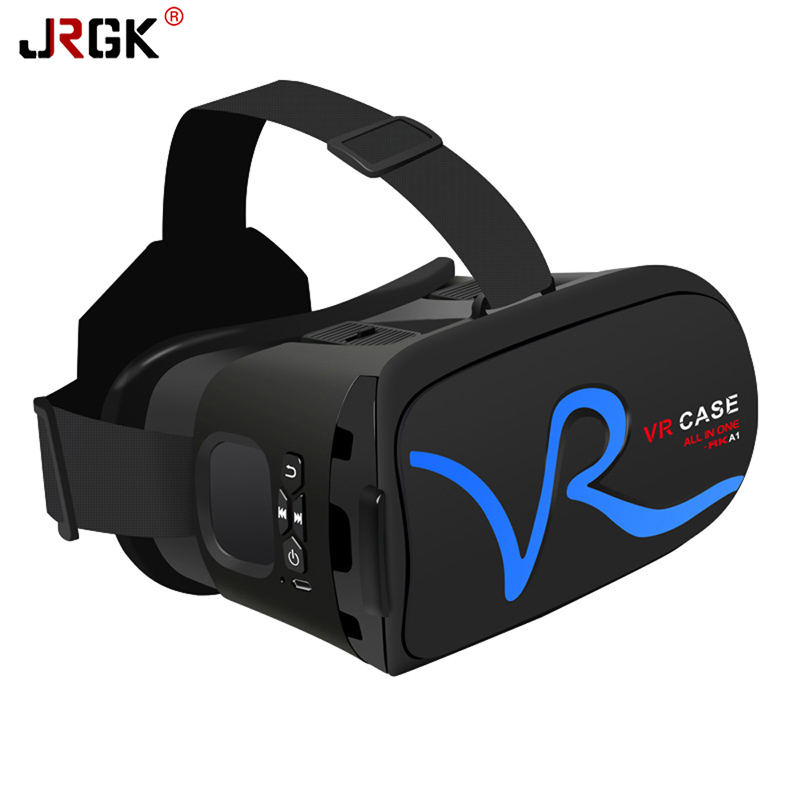 цена на RK-A1 VR CASE Box Virtual Reality 3D VR Glasses Cardboard for Xiaomi Samsung S6 S5 S4 iPhone 5 6S plus 4.0-6 inches Smartphone