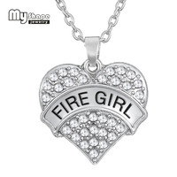 my shape Hot selling Zinc Alloy Heart Charms Long Necklace Word Charm Fire Girl Kingdom Hearts Fit any size Christmas Gift
