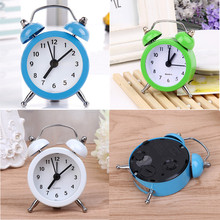 Mini Round Alarm Clock Desktop Table Bedside Clocks Kids Adults Travel Clock Decor Lovely Cartoon Alarm Clocks Dial Number Round