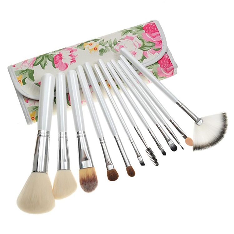 Factory Direct Sale High Quality 12 PCS Make up Brush Set Synthetic Makeup Brush Handbag