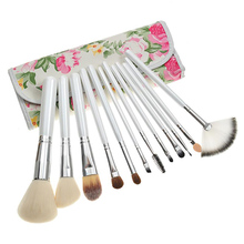 Factory Direct Sale High Quality 12 PCS Make-up Brush Set Synthetic Makeup Brush Handbag