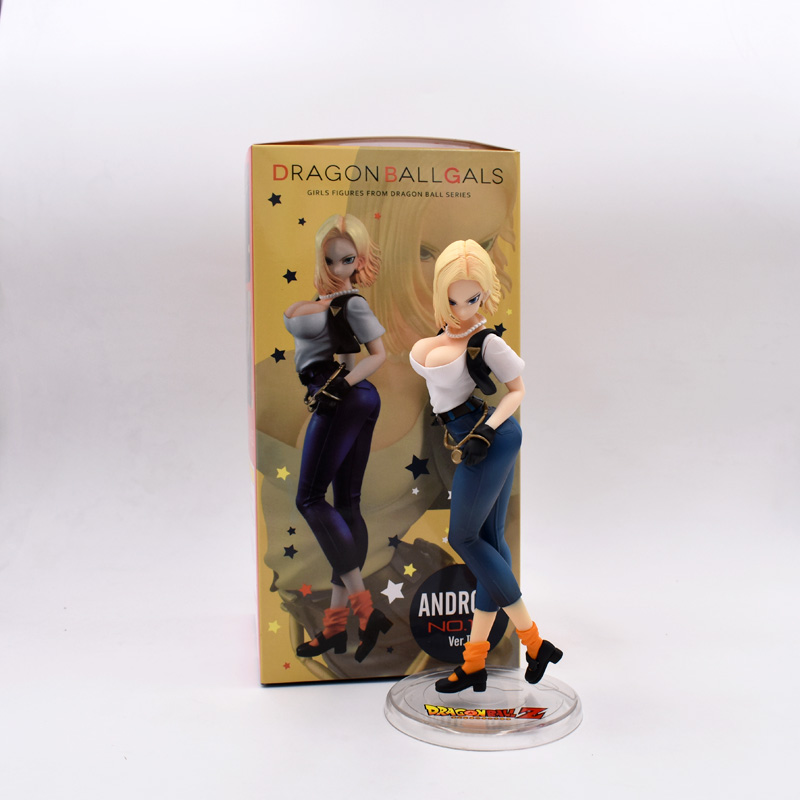 20cm Dragon Ball Z Android 18 Lazuli Sexy Anime Action Figure PVC New Collection Figures Toys Collection For Christmas Gifts doub k 1 pcs action figure toy pvc sexy figurine female doll 20cm anime kawaii model toys collection car decoration figures