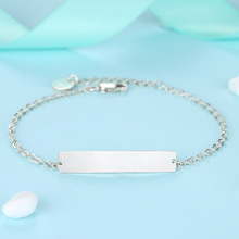 Exquisite Personalized Custom-Made Silver Chain Bracelet