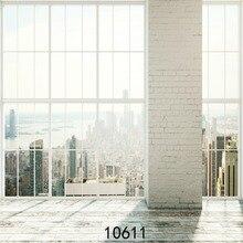 Moderna casa de tijolo pillar & piso de madeira Crianças Fotografia vinil fino pano de Fundo Da Foto Estúdio Pano de Fundo pano 5x7ft