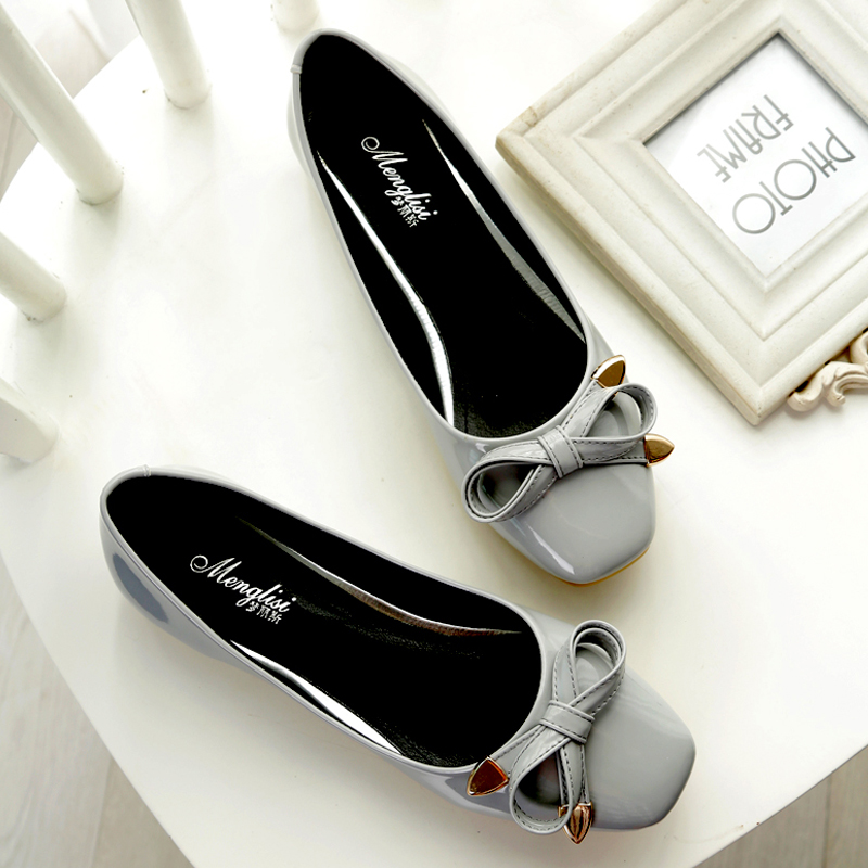 2018 New Women flats casual shoes leather fashion square head Bowknot Womens flat heel single shoes eh112018 New Women flats casual shoes leather fashion square head Bowknot Womens flat heel single shoes eh11