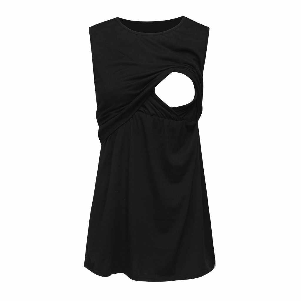 Женский жилет для беременных без рукавов для кормящих мам, топы для беременных и кормящих, Одежда для беременных, zwangerschaps рубашка