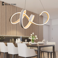 New Creative Modern LED Chandelier For Living room Dining room Kitchen Lamp White LED Chandelier Lighting Fixtures AC110 220V