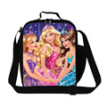 Dispalang Thermal Cooler Bag Insulated Cartoon Lunch Bags Kids Portable Meal Package Lunch Picnic Barbie Girls Food Bag