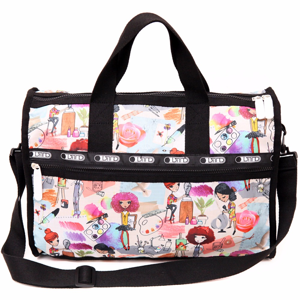 7a10face90 Women Travel Bag Weekend Bags Large Crossbody Duffle Digital Print Nylon  Totebag Travel Duffel Bags 55 Bag Bolso Viaje de Mujer-in Travel Bags from  Luggage ...