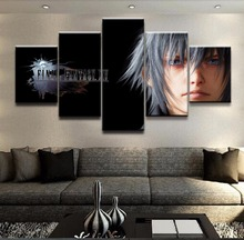 Modern Wall Art Painting 5 Panel Final XV fantasy  Game Poster Home Decorative For Living Room Canvas Printed Picture Artwork