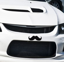 Reflective personality Cartoon Beard Car Stickers bonnet hood body window car styling golf 7 Stickers Removable