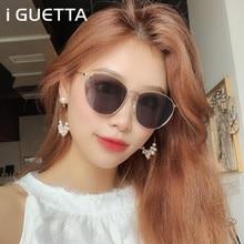 iGUETTA Round Clear Sunglasses Women 2019 Designer Sunglass High Quality Metal Glasses Frame UV400 Oculos De Sol IYJA589
