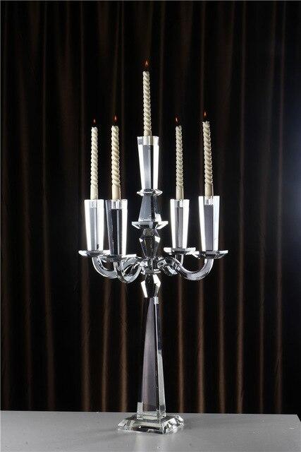 Evropský klasický křišťálový svícen, svatební dekorace pro domácí párty. Hromadný nákup dostupnější