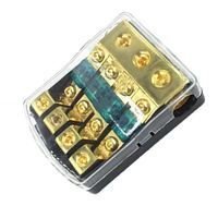 1PC 1 in 4 ways out Waterproof Car Pure Copper Mini Fuse Box with 60A Fuses