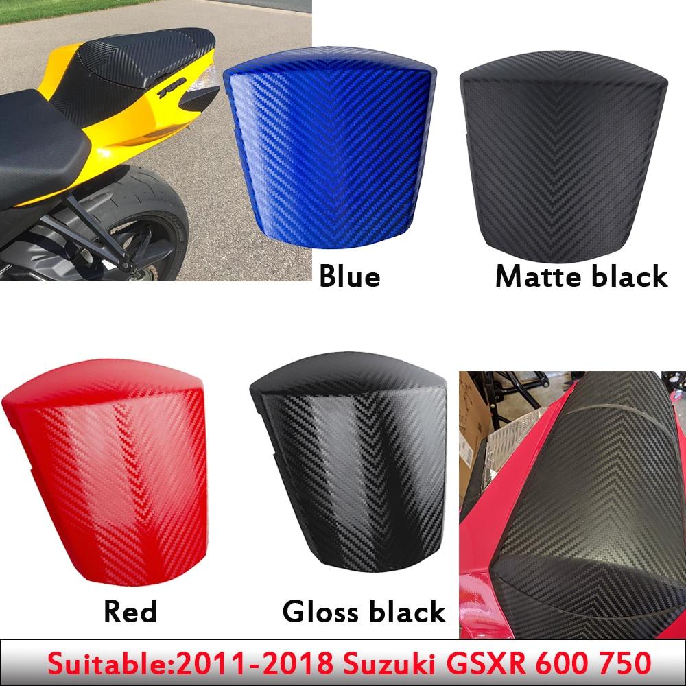 Carbon Pattern Rear Solo Seat Cowl Tail Cover Fairing For 2011-2018 Suzuki GSXR GSX-R 600 750 2012 2013 2014 2015 2016 2017