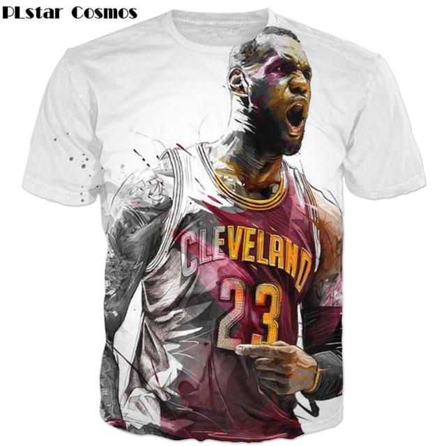 6c50a006b2f6 PLstar Cosmos 2017 summer New Fashion 3d t-shirt star LeBron James Roaring  Funny Print Men Women t shirts casual O-Neck T shirt