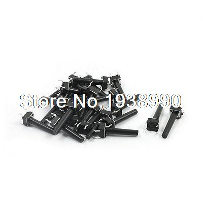 25Pcs Momentary <font><b>Tact</b></font> Tactile Push Button <font><b>Switch</b></font> 6x6x21mm 4-pin DIP image