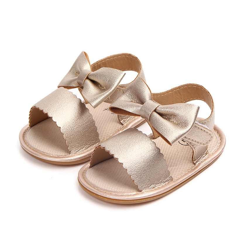 Sandalias bonitas para bebés recién nacidos, niño niña, sandalias con lazo, zapatos de verano para bebés, sandalias casuales de moda para niñas, sandalias de PU para bebés