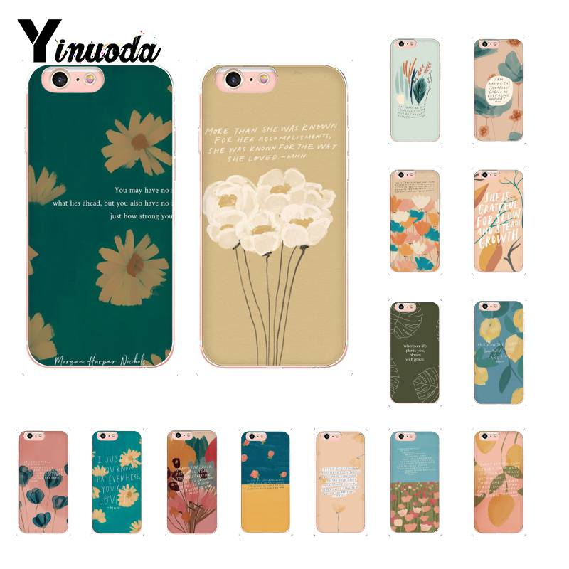 Yinuoda fashion newly popular floral aesthetic pattern <font><b>PhoneCase</b></font> for iPhone5 5S 6 7 <font><b>7plus</b></font> 8 8Plus X XSMAX XR 11 11pro 11promax image