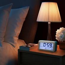 Digital Nightlight Alarm Clock Electronic Table Desktop LCD Display Clocks Modern design clock With Time Date Week Temperature