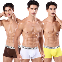 Fervour pe Mens Boxer Modal sexy Letter Men panties Plus Size M-3XL Youth Middle-waist Underwear B19048