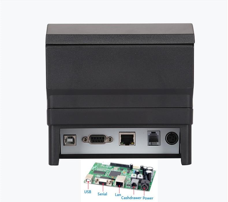 NEUE 80mm erhalt POS drucker Automatische cutter bill Thermische drucker USB Ethernet Serial Drei ports sind integrierte in einem drucker