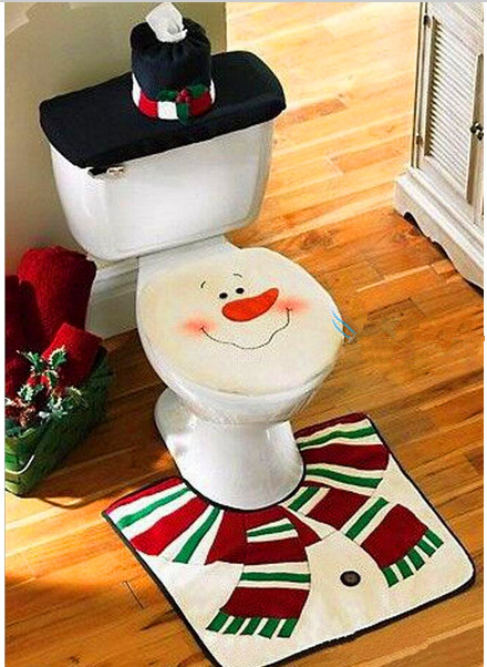 Groovy Us 14 99 Hot 3Pcs Set Non Disposable Cartoon Christmas Toilet Seat Cover Ottomans Mats Tank Lid Cover Towel Sets Cloth Genius Snowman In Toilet Seat Forskolin Free Trial Chair Design Images Forskolin Free Trialorg