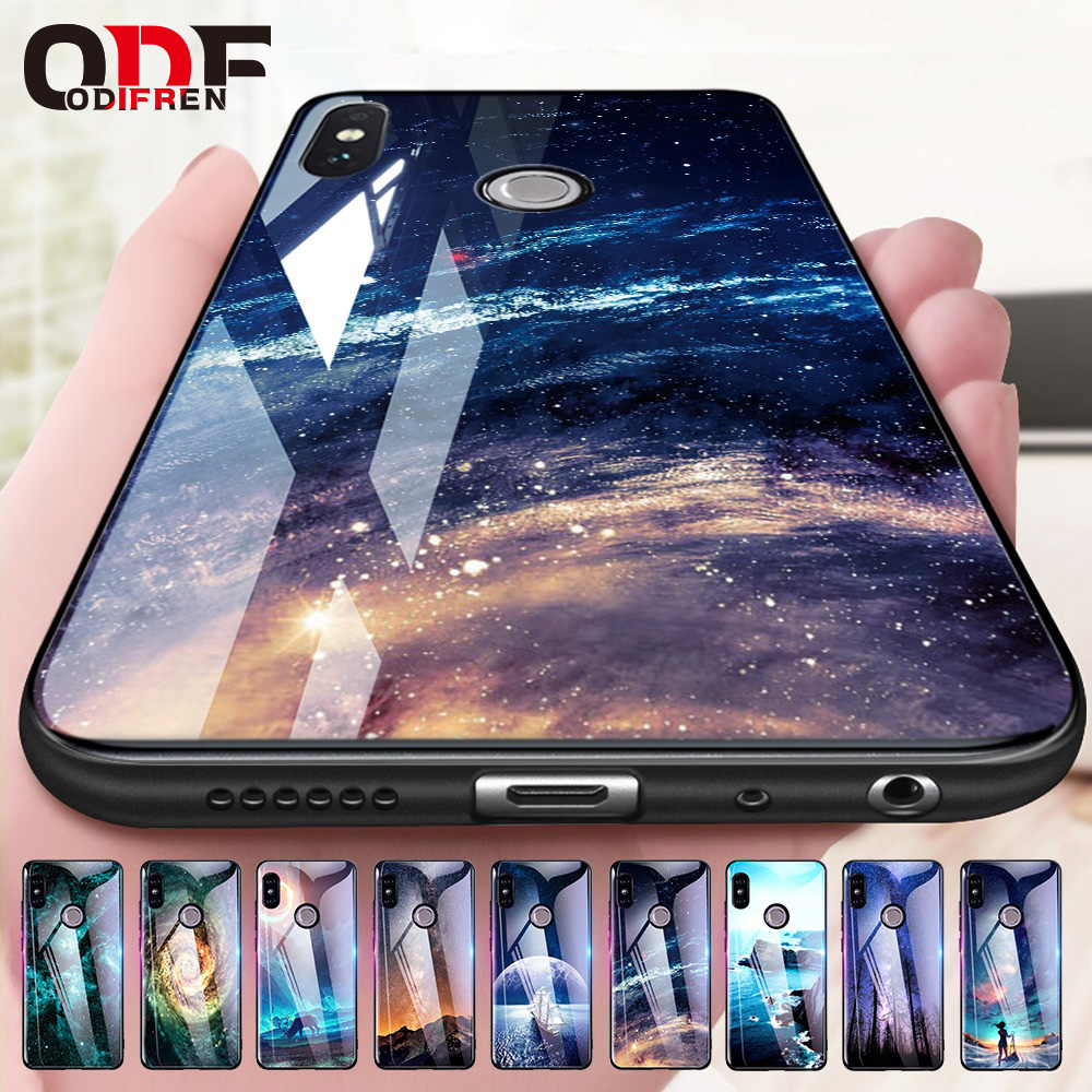 Odifren Space Case for Xiaomi Redmi Note 5 4X 5 Pro Case Cover Mi A1 5X Glass Coque Phone Cases for Xiomi Xiaomi Redmi 5 Plus 4X