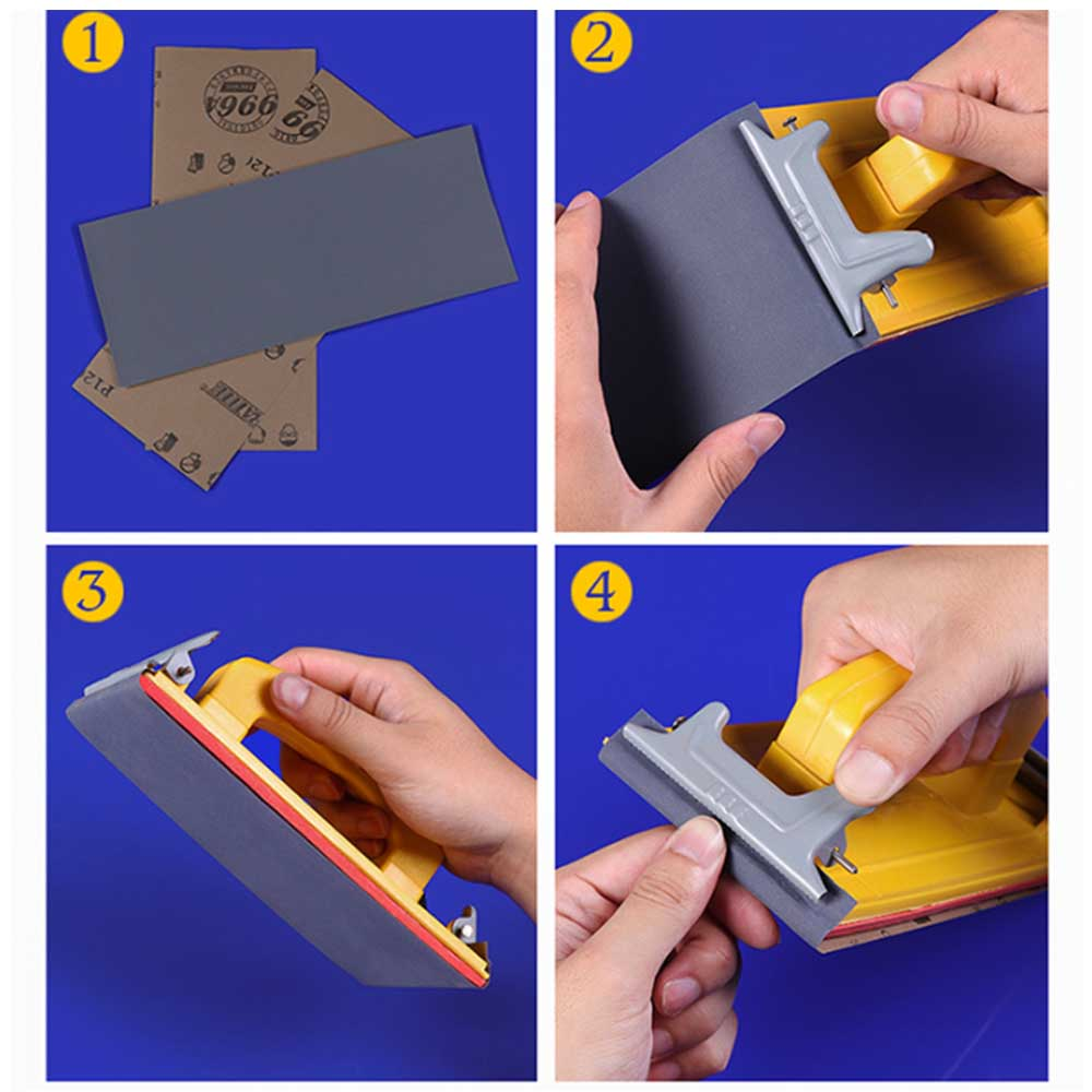 Image 4 - Wet and Dry Hand Grip Sandpaper Holder Grinding Polished Tools for Polishing Walls Sanding Woodworking 1PC-in Abrasive Tools from Tools