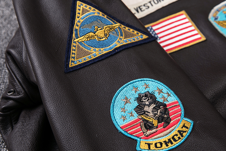 HTB1qHBiXELrK1Rjy0Fjq6zYXFXa6 2019 Brown Men TOP GUN Pilot Leather Jacket Wool Collar Plus Size XXXL Genuine Cowhide Winter Russian Aviator Coat FREE SHIPPING
