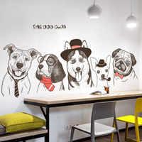 Créatif drôle chien Club vinyle Stickers muraux bricolage Animal moderne décor à la maison décalcomanies affiche papier peint