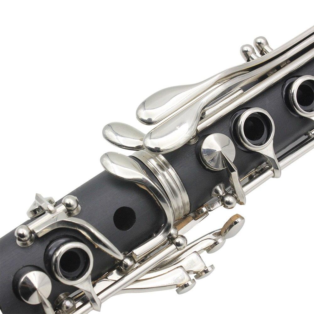 Nouveau SLADE ABS 17 Clé Clarinette bB Soprano Plat Binoculaire Clarinette avec Chiffon De Nettoyage Gants Tournevis Roseau Cas À Vent Ins - 6