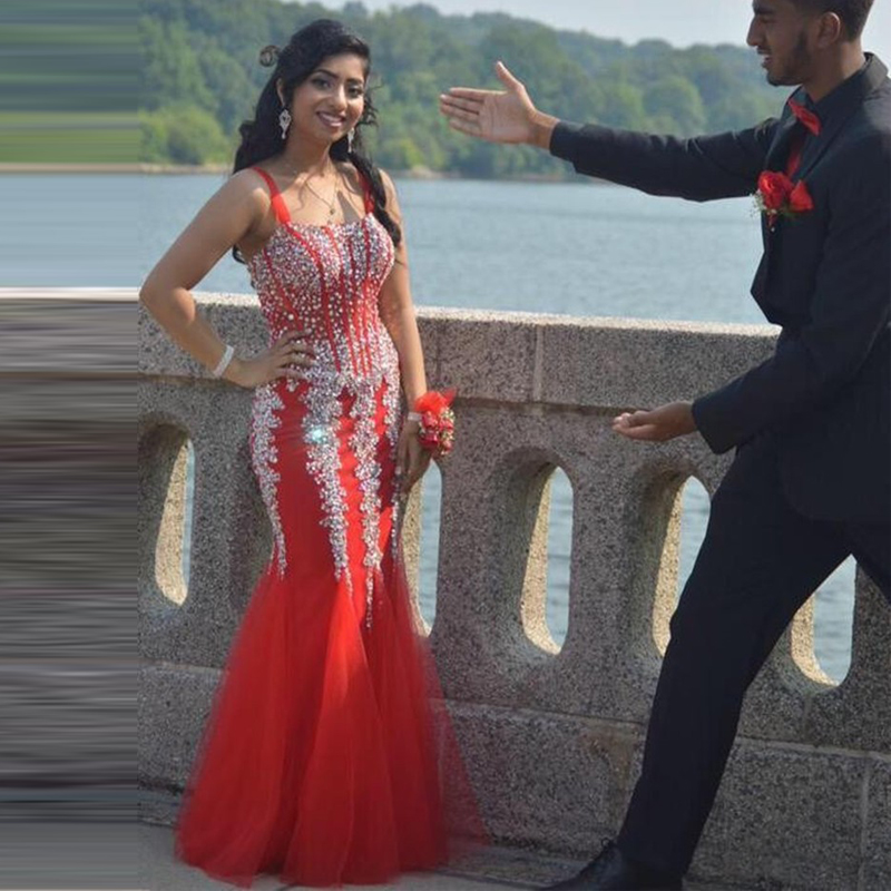 Popular Red Silver Prom Dresses-Buy Cheap Red Silver Prom Dresses ...