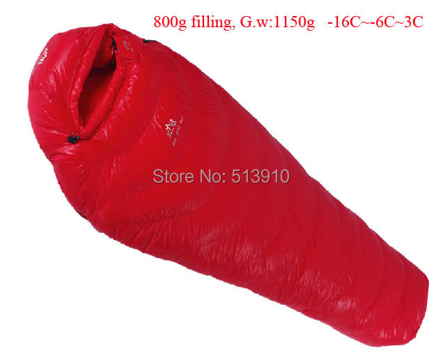 Goose down 800g Filling -16C~3C! Ultra-light down outdoor goose down sleeping bag outdoor adult breathable thicken sleeping bag black ice g700 blue red single mommy splicing ultra light winter outdoor adult goose down sleeping bag with carrying bag page 8