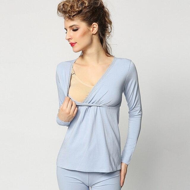 Одежда для беременных Ночная Рубашка Грудное вскармливание беременности  пижамы для беременных кормящих Пижама df04702259b