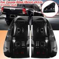 For Toyota Hilux Revo 2015 2016 2017 2018 1Pair Car Somke Tail Lights Rear Taillights Brake Fog Lamp Drl Styling Black Shell