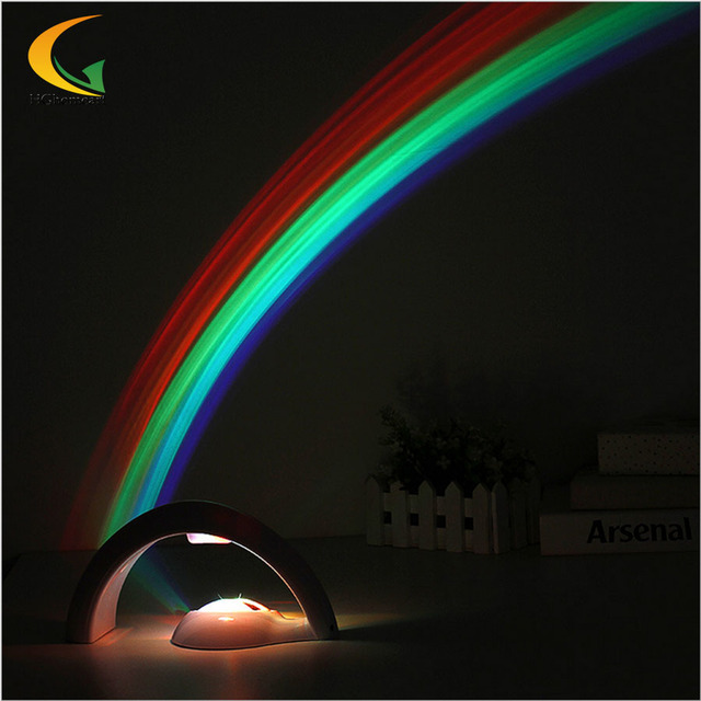 baby room LED rainbow light Projector Rainbow Light for child girls Romantic Projection night Light lighting bedrooms