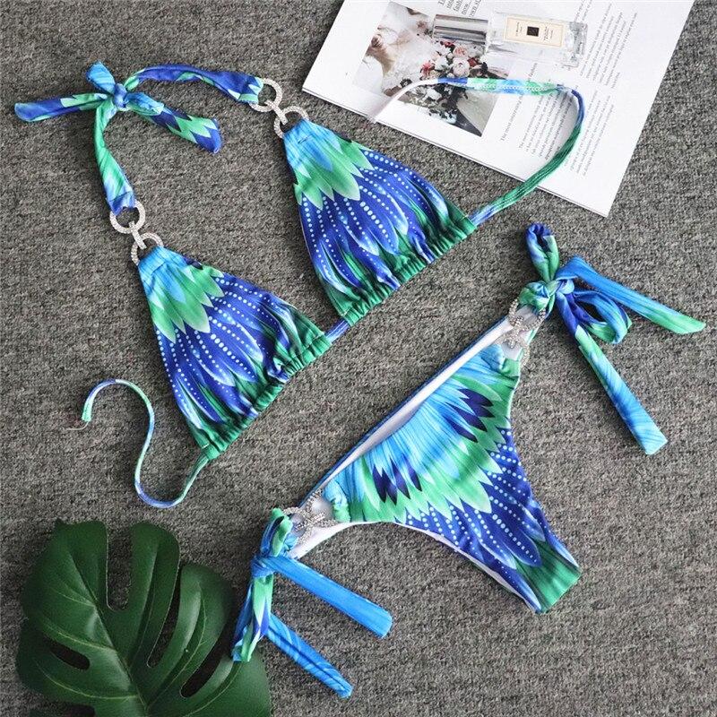 HTB1qHDUSQvoK1RjSZFwq6AiCFXaX Bikinx Snake print bikinis 2019 mujer bathing suit Triangle sexy female swimsuit Push up swimwear women bathers Micro bikini new
