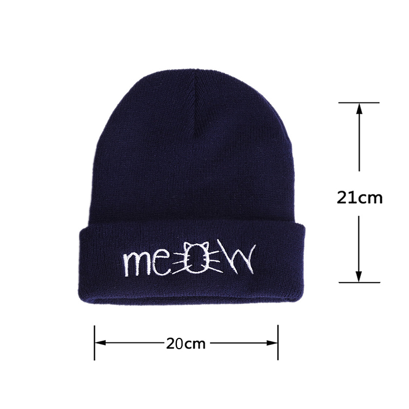 New Meow Cat Lovers Trippy Colorful All Ages Beanie