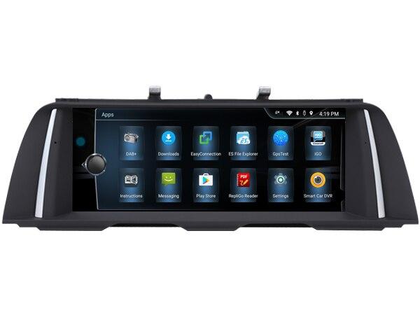 Lecteur multimédia de voiture OTOJETA 10.25 pouces 4G quad core Android 6.0 pour BMW série 5 F10 F11 avec radio aux gps NBT (6 P) idrive