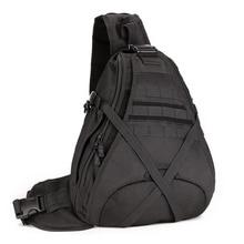 男性1000Dナイロンスリング胸バッグ水ボトルの日のバックパッククロスボディメッセンジャーショルダーバッグパケット軍事旅行乗馬新