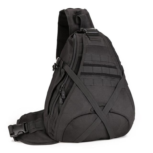 Erkekler 1000D naylon Sling göğüs çanta su şişesi gün geri paketi çapraz vücut Messenger omuz paketi askeri seyahat sürme yeni