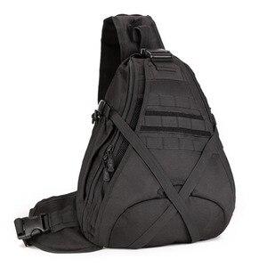 Image 1 - Men 1000D Nylon Sling Chest Bag Water Bottle Day Back Pack Cross Body Messenger Shoulder Packet Military Travel Riding New