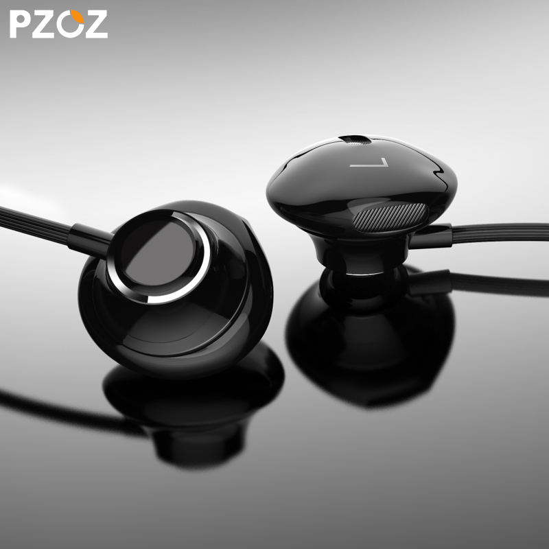 PZOZ S1 Bass Earphone 3.5mm Wired control Headset With Mic In-Ear sport earbud earphones For iphone xiaomi Samsung Huawei MP3 PC torras earphone bass running sport for iphone 6 in ear earphone 3 5mm volume control headset earphones with micphone for samsung